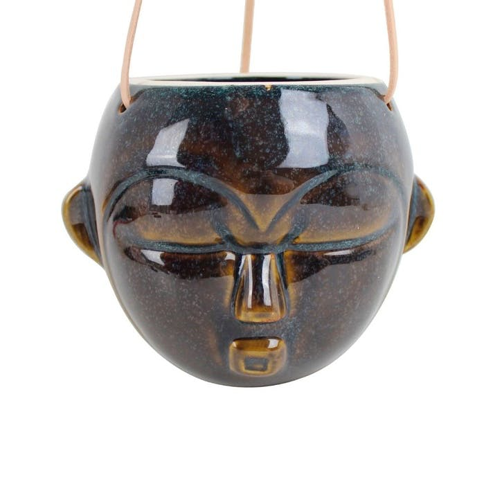 Round Mask Hanging Planter