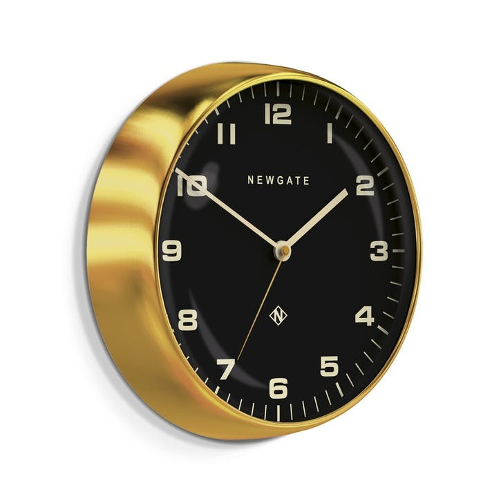 The Chrysler Wall Clock, Dia. 40cm, Radial Brass