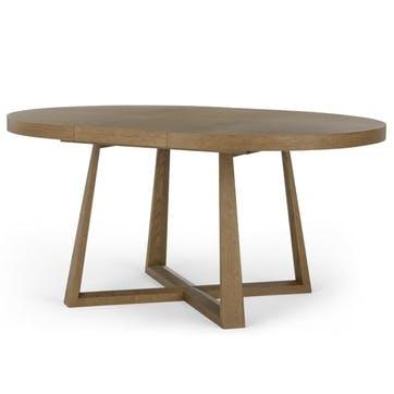 Belgrave Extending Dining Table, Dark Stained Oak