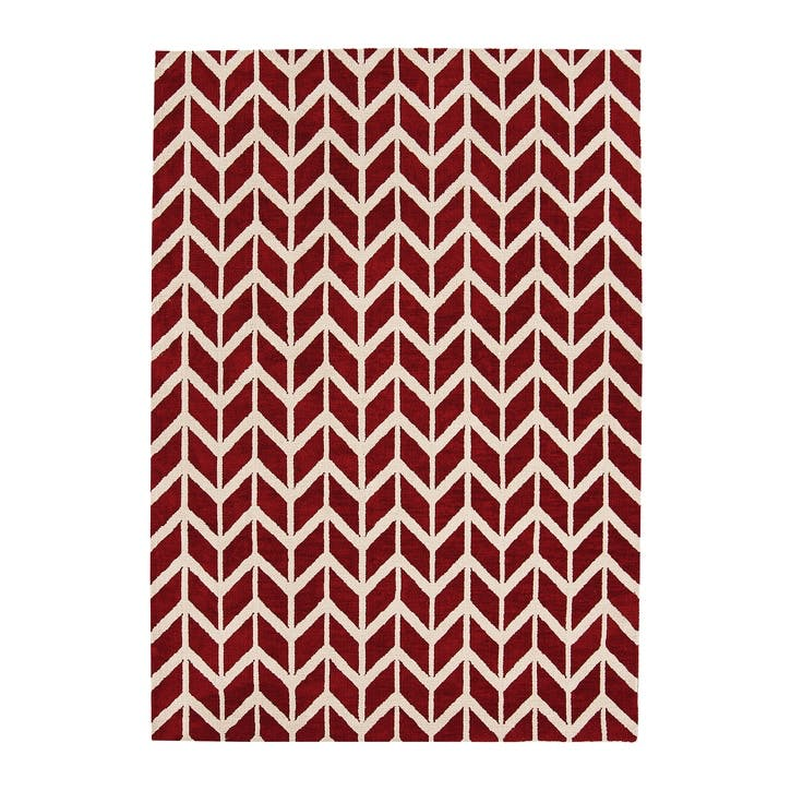 Arlo Chevron Rug - 1.2 x 1.7m; Red