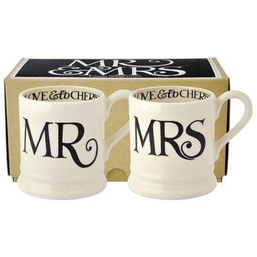 Mr & Mrs Mugs, Set of 2