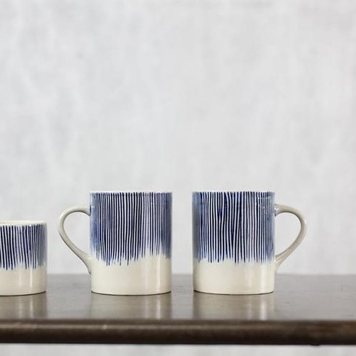 Karuma Tall Mug, Set of 2, Blue