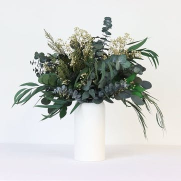 Hand-Tied Large Bouquet, Greenery & Neutrals