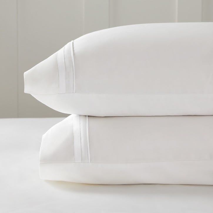 Cavendish Pillowcase, Standard, White