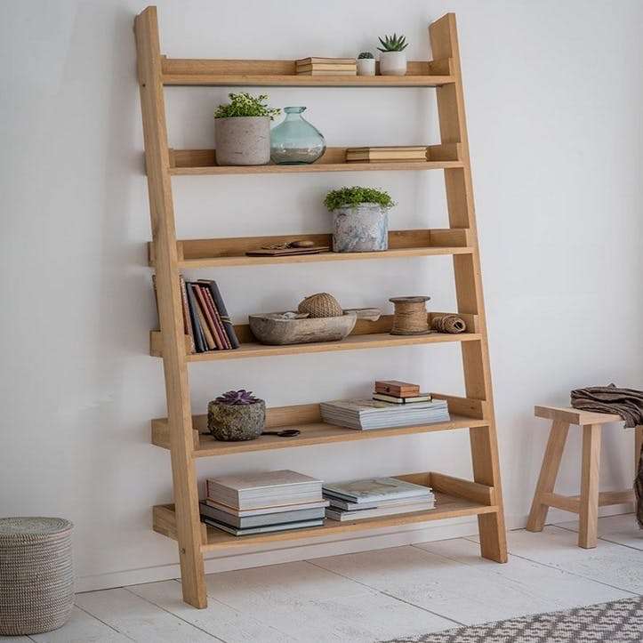 Hambledon Raw Oak Large Shelf Ladder