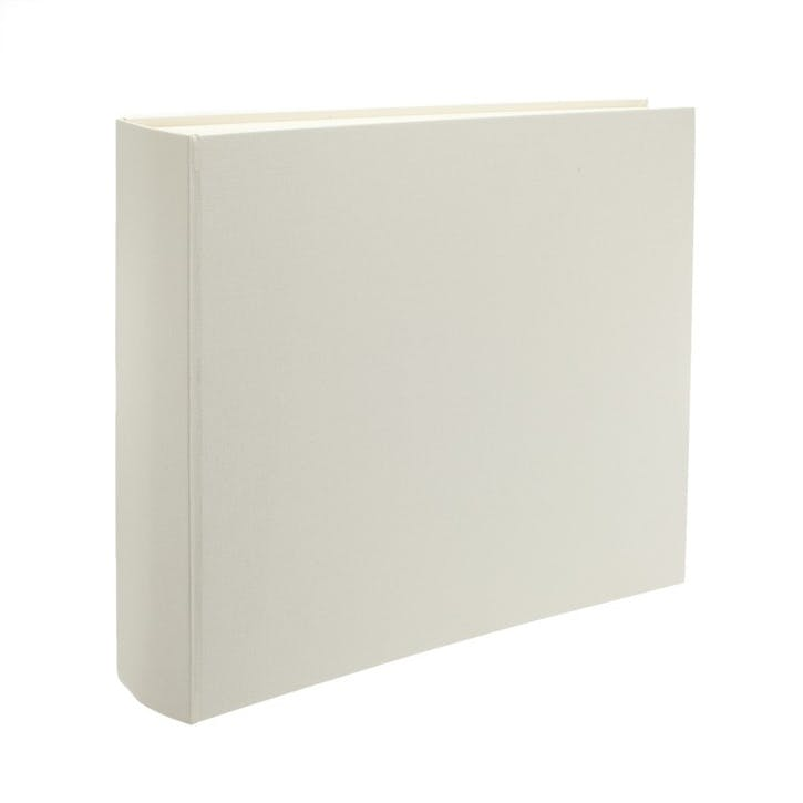 Linen Landscape Photo Album, Ivory