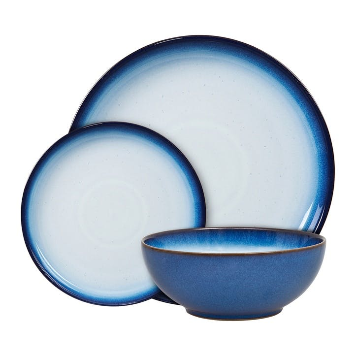Blue Haze Coupe Dinnerware Set, 12 Piece