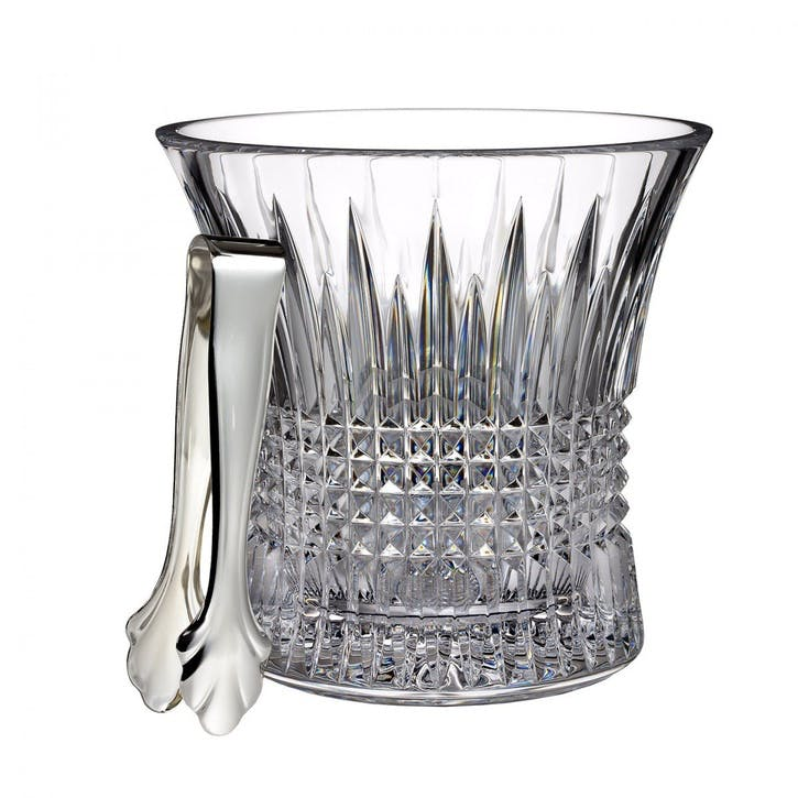 Lismore Diamond Ice Bucket and Tongs