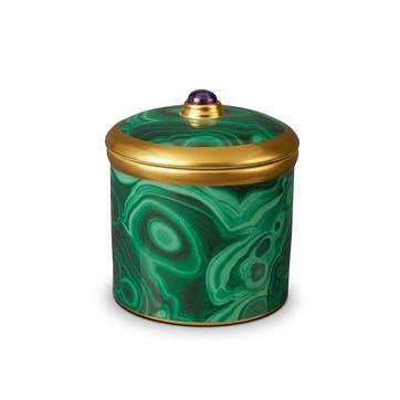 Malachite Candle