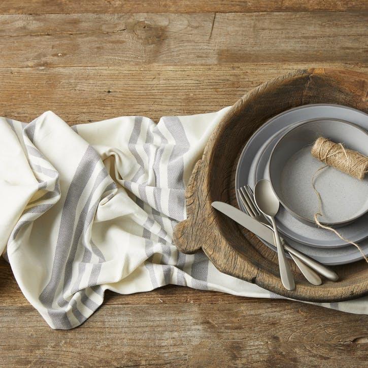 Modern Rustic Grey Stripe Tablecloth
