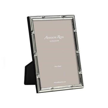 """Bamboo Silver Plated Photo Frame, 4"""" x 6"""""""