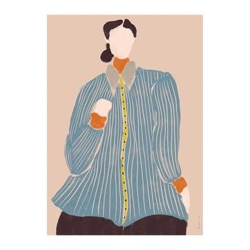 Kvinde Bla, Laura Nielsen Art Print