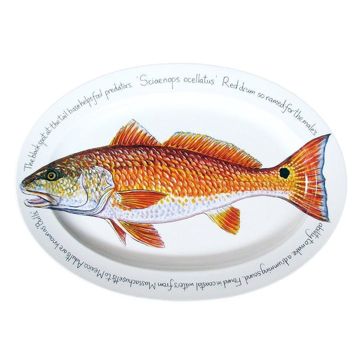 Red Drum Oval Plate - 39cm