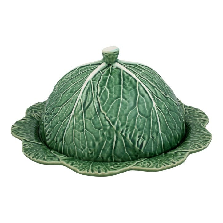 Cabbage Covered Cheese Platter, 35cm, Green