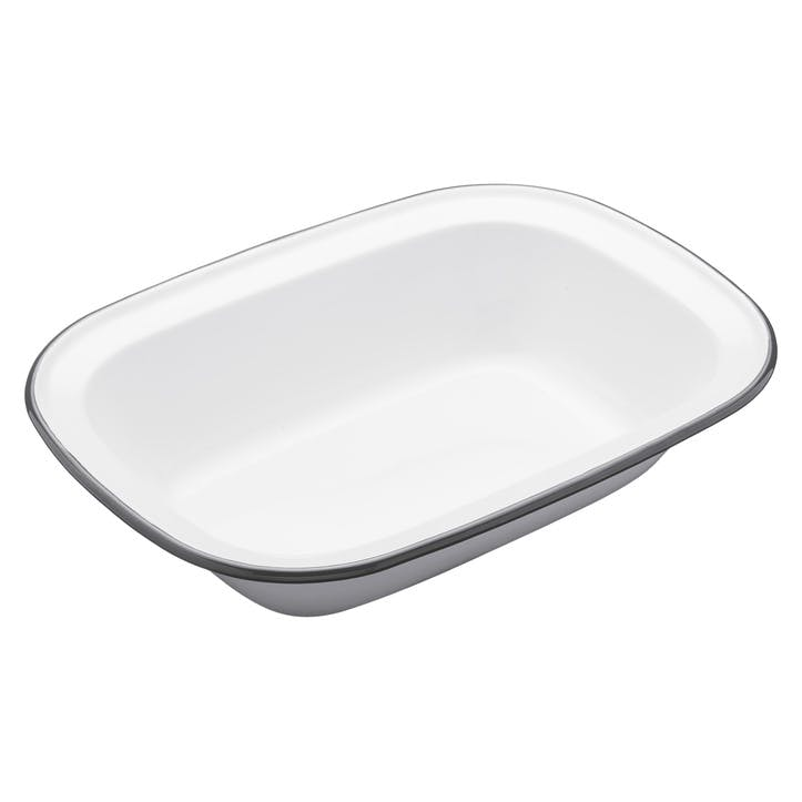 Enamel Oblong Pie Dish