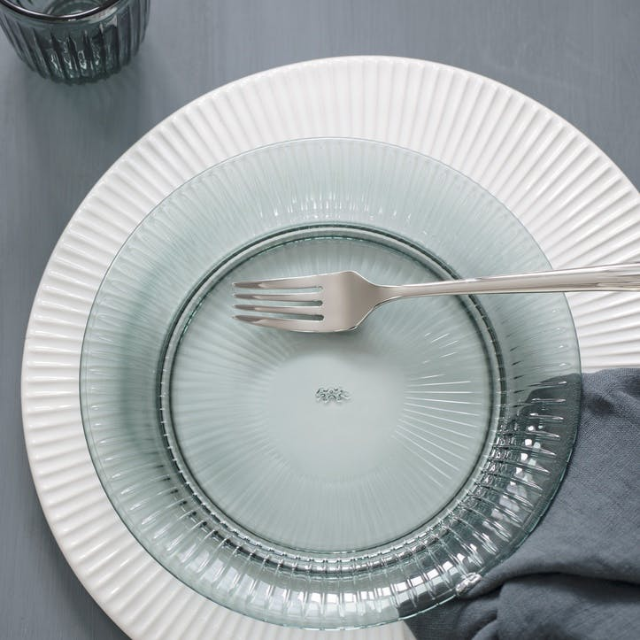Hammershoi Glass Plate, 22cm, Green