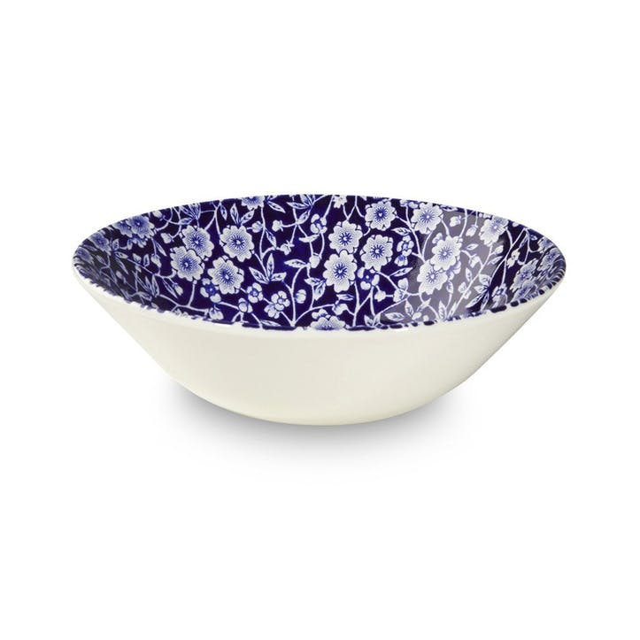 Calico Cereal Bowl, 16cm, Blue