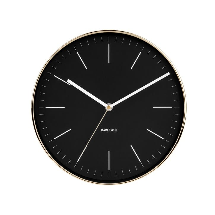 Minimal Wall Clock, Black