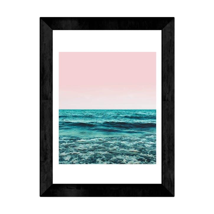 83 Oranges, Ocean Main, Framed Art Print, H48 x W37 x D2cm, Black