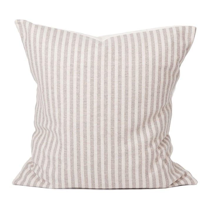 Harbour Stripe Cushion - 60cm; Mushroom & Ecru