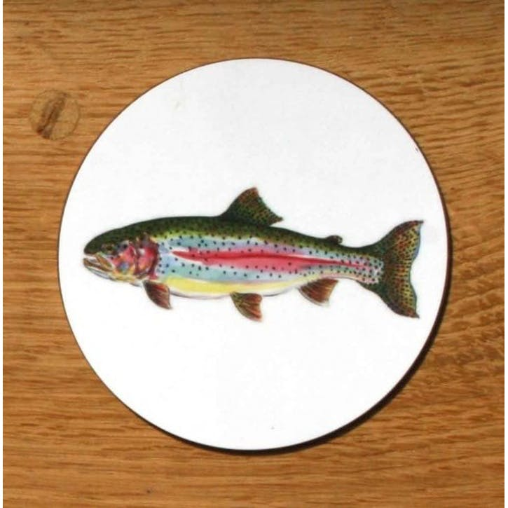 Rainbow Trout Coaster - 10cm
