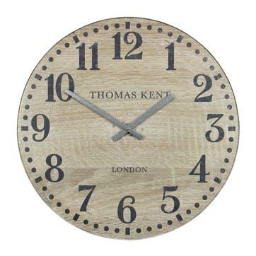 Wharf Clock, 76cm, Soaped Oak
