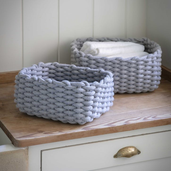 Chesil Rectangular Baskets, Set of 2