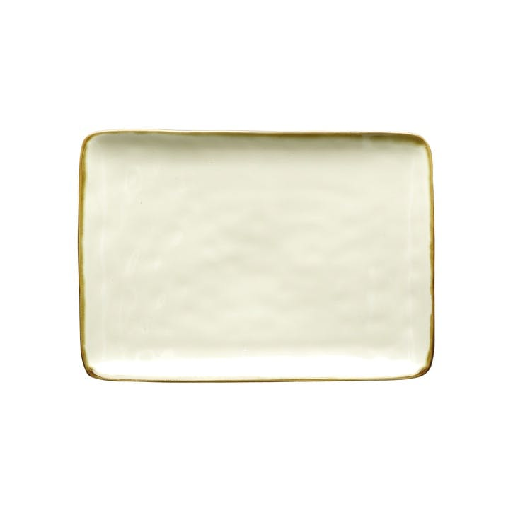 Concerto Serving Platter, Small, Ivory