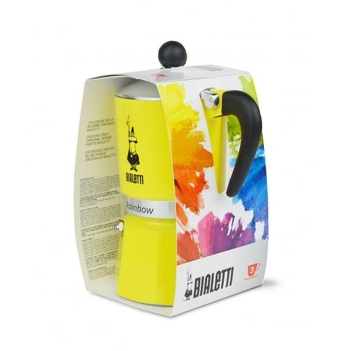 Rainbow Moka Express, 6 Cup, Yellow