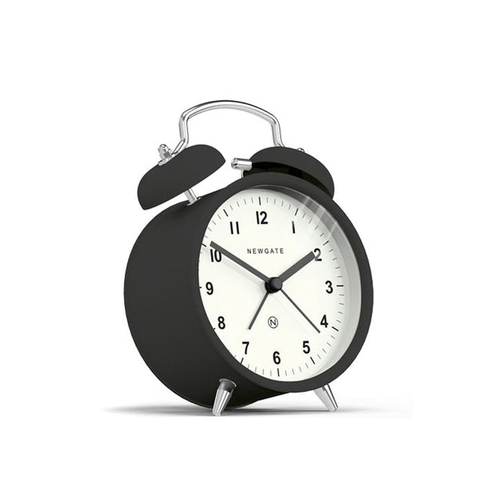 Charlie Bell Alarm Clock, Dia. 9.7cm, Black