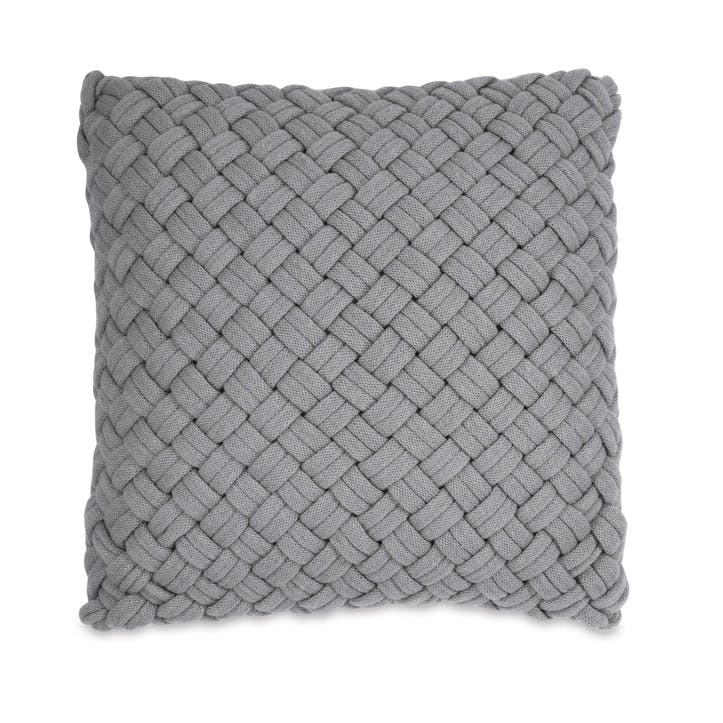 Chunky Knit Cushion, Grey
