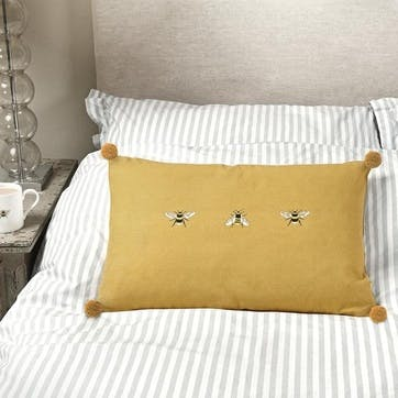 'Bees' Embroidered Cushion