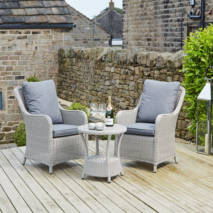 Antigua Bistro Set, Stone Grey