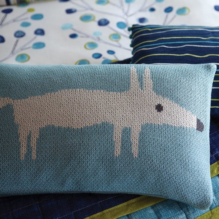 Mr Fox Cushion, Lagoon