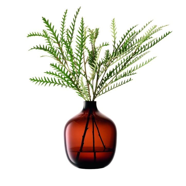Vessel, Vase, H18cm, Mocha