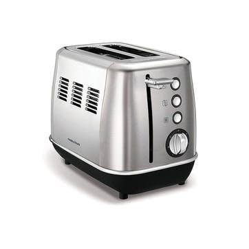 Evoke 2 Slice Toaster; Brushed Steel