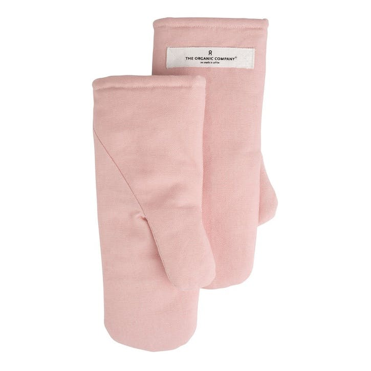 Canvas Oven Mitts, Small, Pale Rose