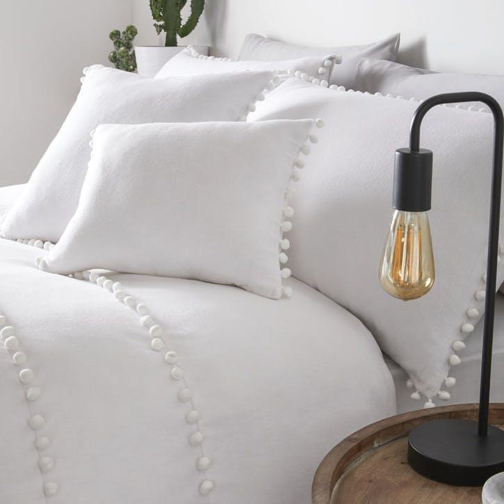 Paignton Cushion Cover, 43 x 43cm, White