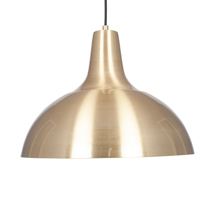 Alonzo Metal Pendant; Brushed Brass