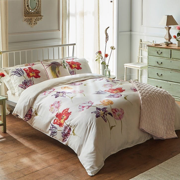 Tulipomania King Duvet Cover, Amethyst
