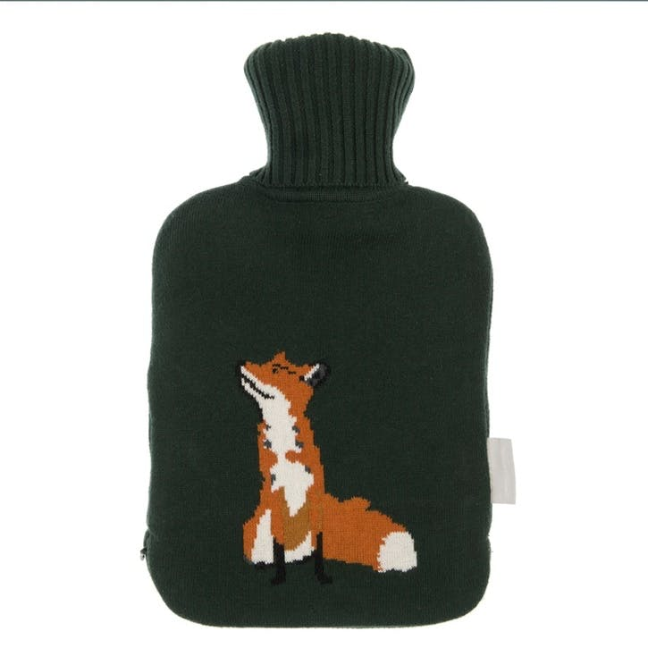'Foxes' Knitted Hot Water Bottle Cover