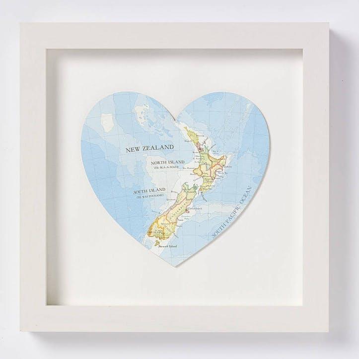 New Zealand Map Print, 28cm