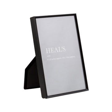 Simple Matt Black Photo Frame, 15 x 10cm
