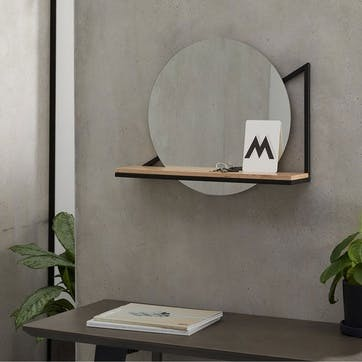 Huldra, Mirror With Shelf, Black