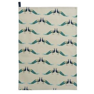 'Peacocks' Tea Towel