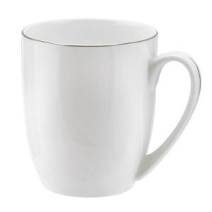 Serendipity Barrel Shape Mug, Set of 4 - 0.35L; Platinum
