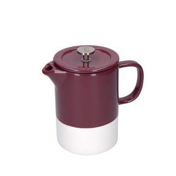 Barcelona Cafetiere, 6 Cup, Plum