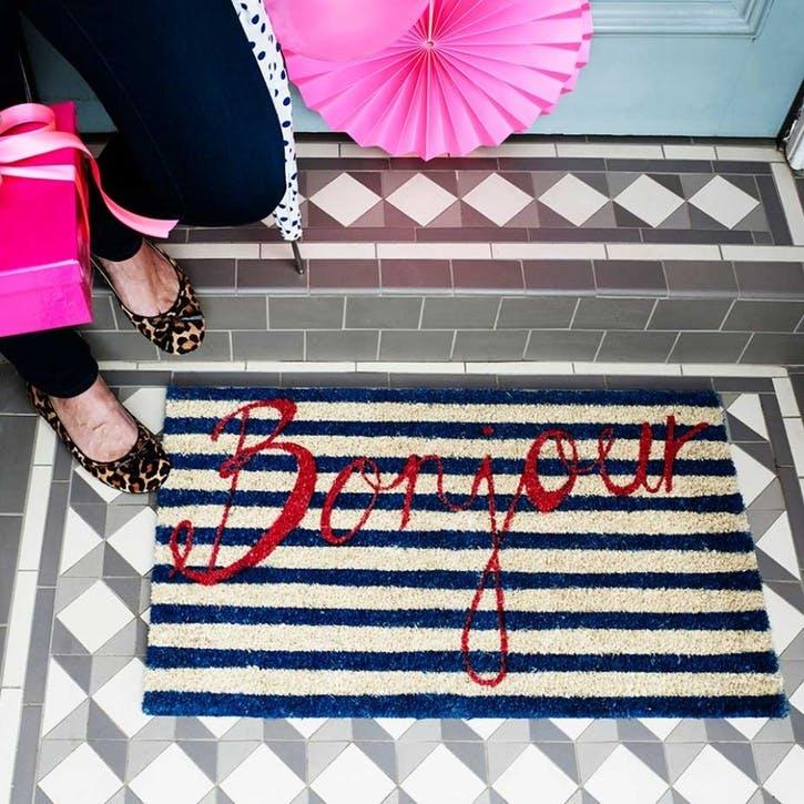 Bonjour Doormat, 75 x 45cm