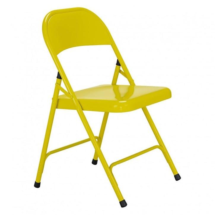 Macadam Folding Chair, Yellow
