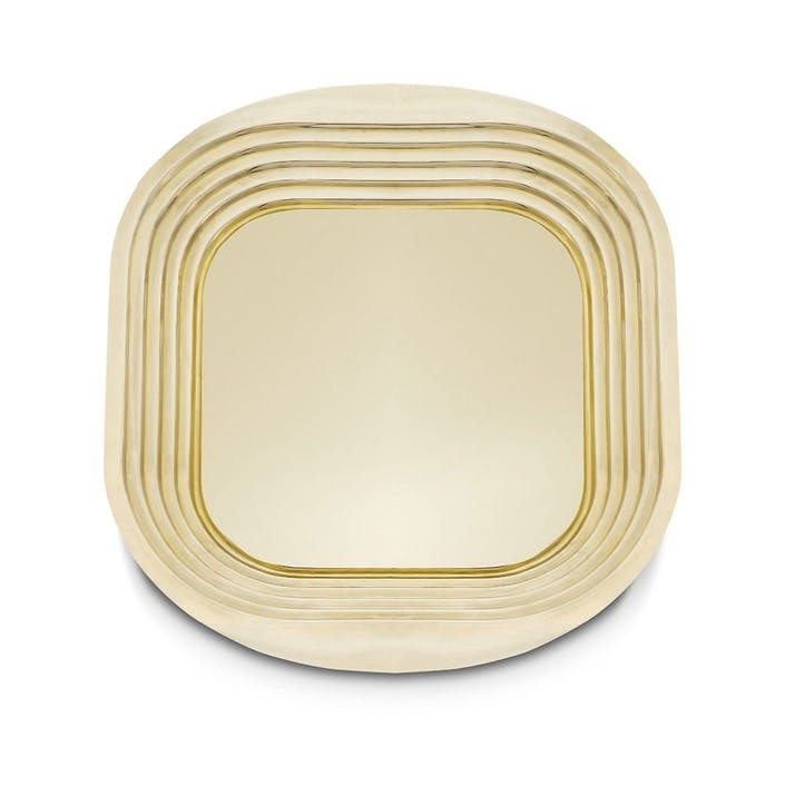 Form Square Tray; Brass